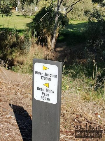The Gawler Rivers (Tapa Pariara) Path is well marked, with signs directing to key locations along it