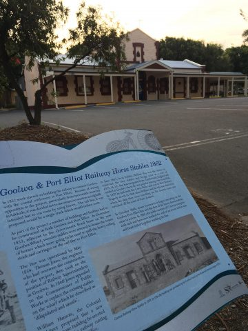 The Goolway & Port Elliot Railway Horse Stables, build in 1862 and now used as the local RSL