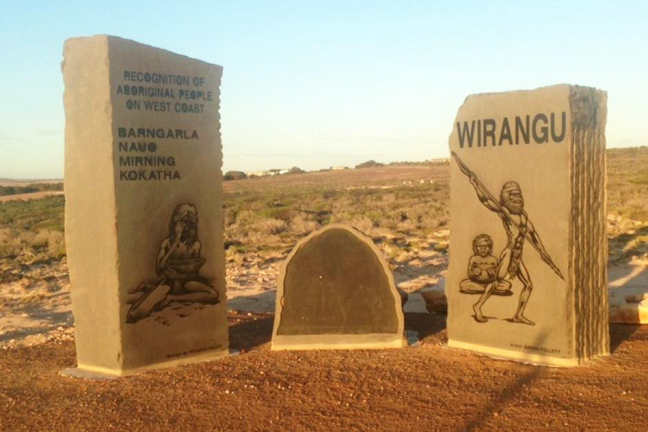 "The Recognition Sculpture at Little Bay. The sculpture acknowledges the Aboriginal people who lived in the area when settlers arrived, and recognitises some of the history that occured. Read more on <a href=""https://www.abc.net.au/news/2017-05-19/waterloo-bay-massacre-commemorated-170-years-later-with-memorial/8539416"">ABC news</a>."
