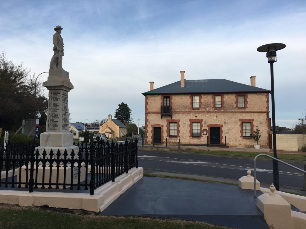 The War Memorial and Australasian Hotel