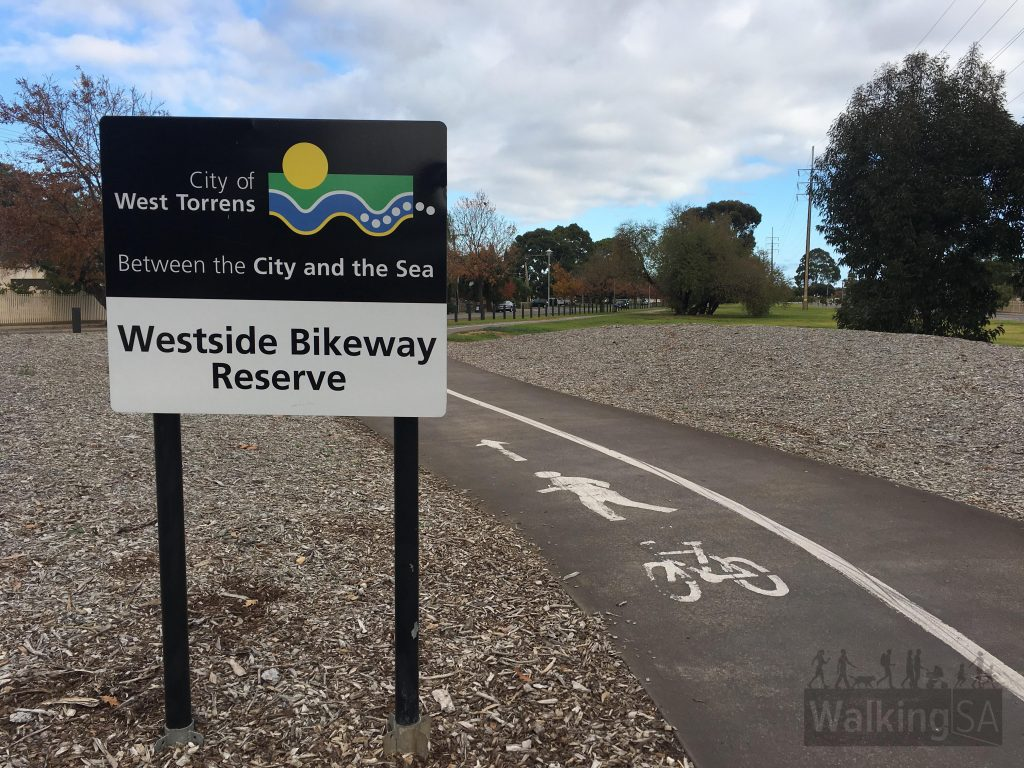 The Westside Bikeway follows a linear park reserve