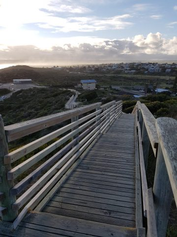 View back down along boardwalk from Lookout end