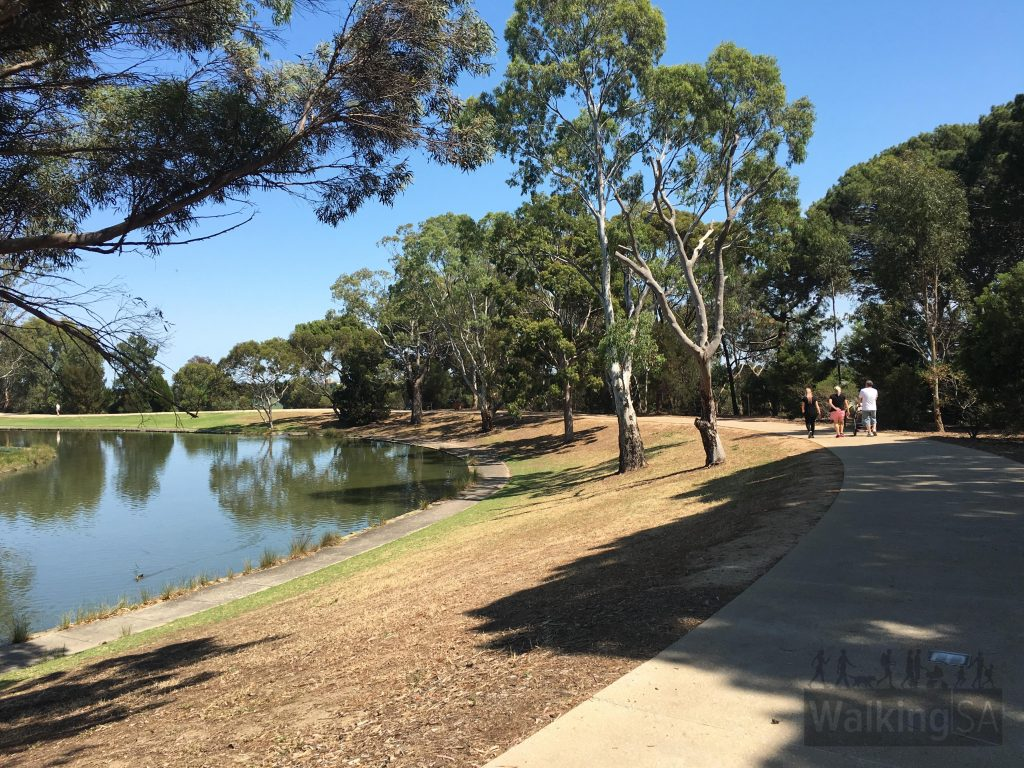 Walking trails around Thorndon Park Lake