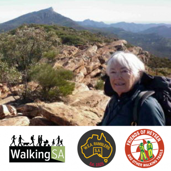 2017 Award Winner: Liz O'Shea, Walking SA, WEA Ramblers and the Friends of the Heysen Trail