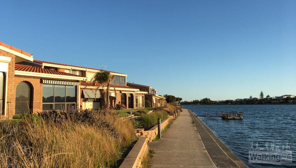 Walking path around West Lakes