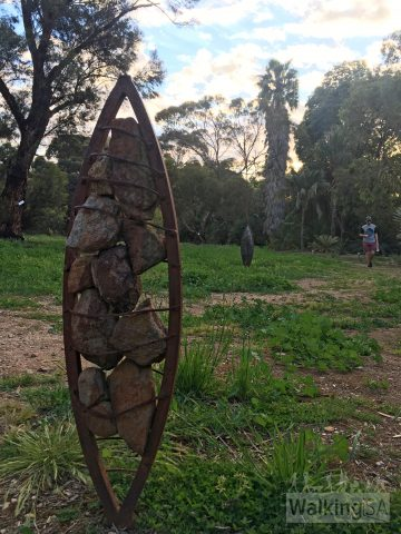 One of the many sculptures to be found when wandering around the Waite Arboretum