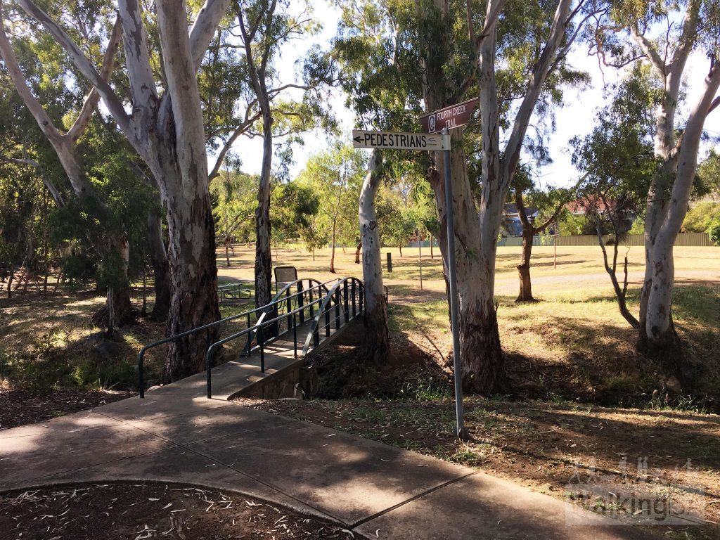 The Fourth Creek Trail near City of Campbelltown council chambers