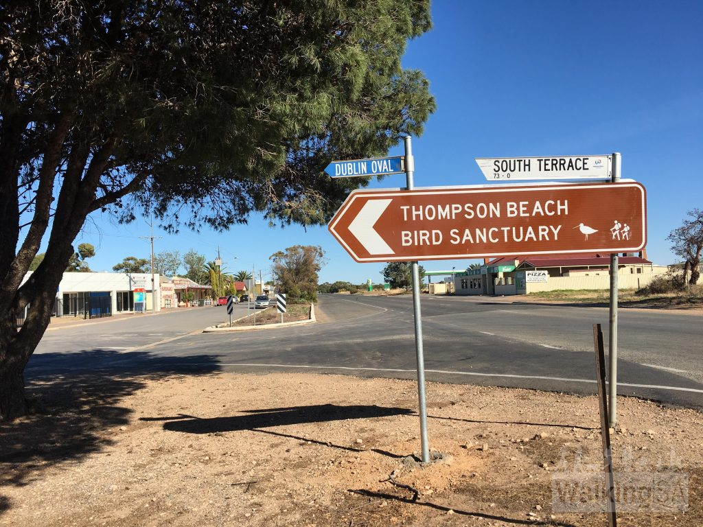 Signage directing cars to the trailheads has recently been upgraded. This sign is in Dublin, just off main Port Wakefield Road
