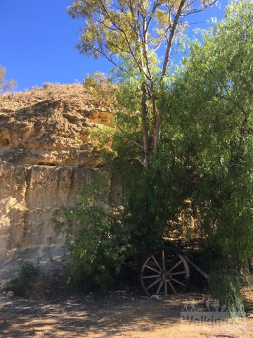 An old wagon in the quarry