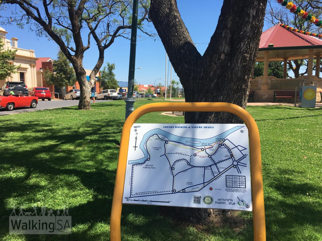 Map of Loxton Walking and Nature Trails, this one is in the main street