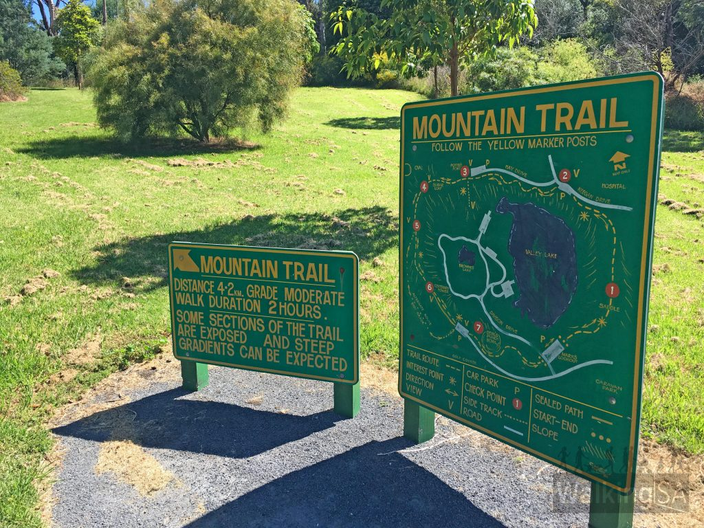 Trailhead signs at Mark's Lookout