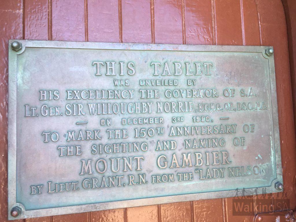 Centenary Tower plaque