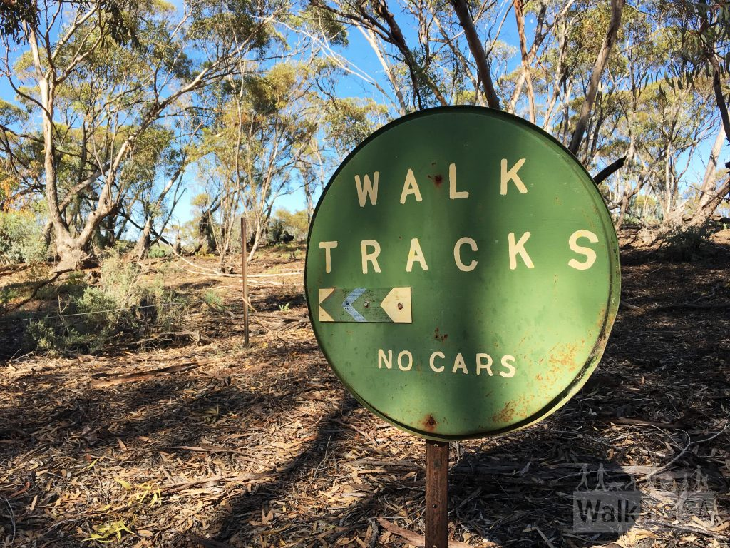 Old sign on Wilabalangaloo Trail