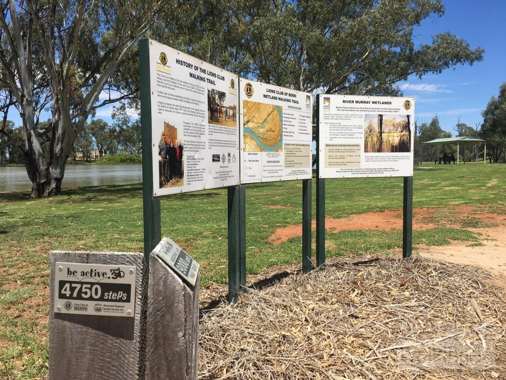 Trailhead of the Wetland Walking Trail, Berri