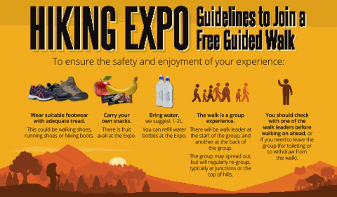 To ensure the safety and enjoyment of your experience on one of the guided hikes, please read these guidelines.