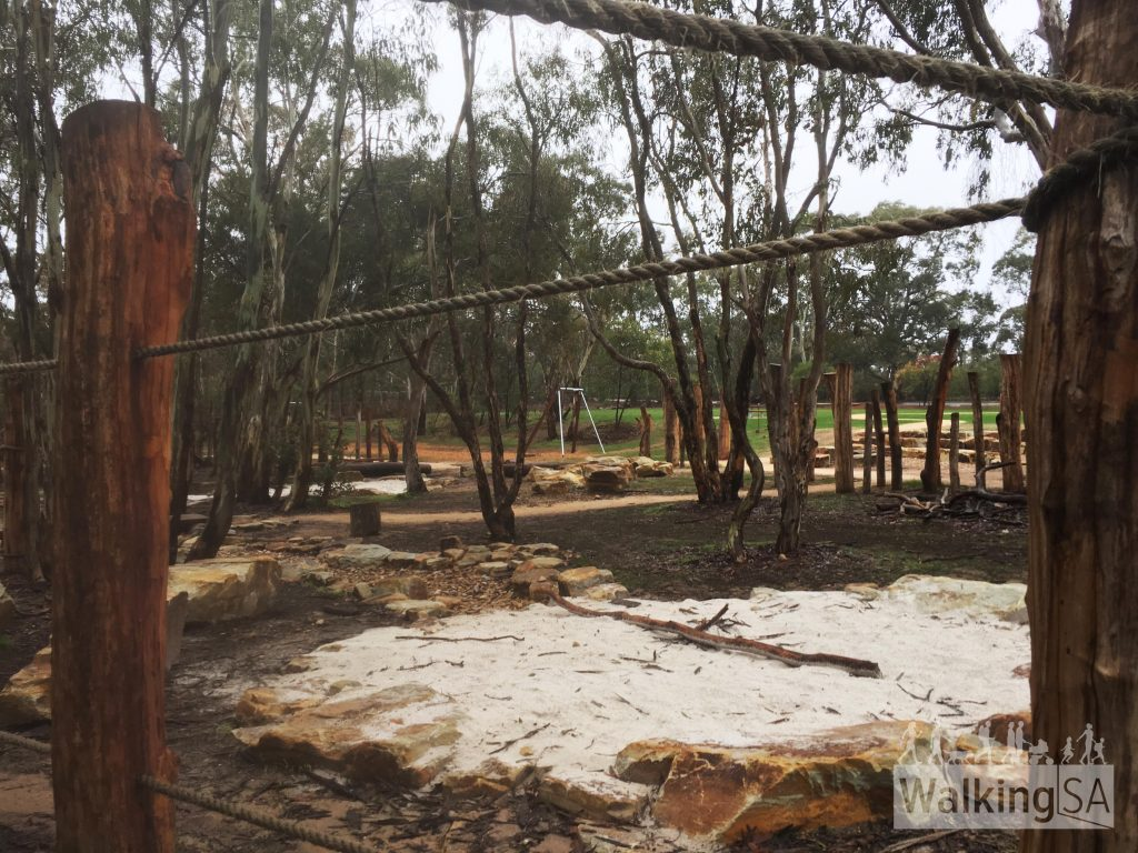 The Gawler View Nature Loop is a through the scrub around this nature play area