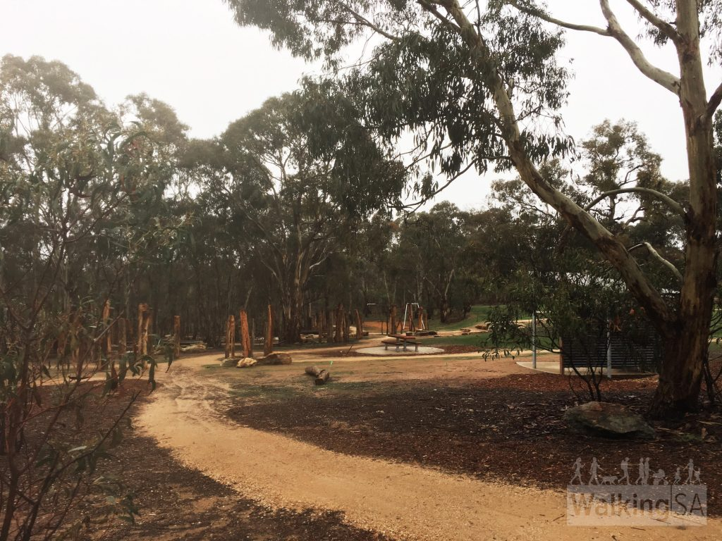 The Gawler View Nature Loop loops around the Gawler View picnic area and nature play area