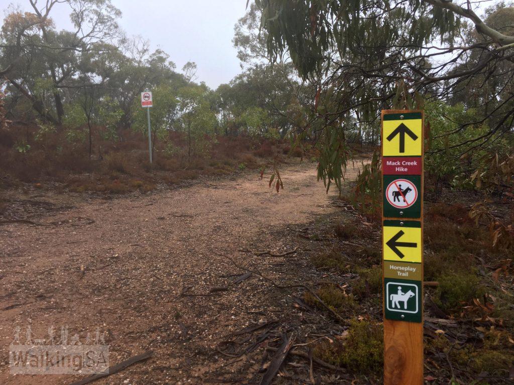 The Mack Creek Hike and Horseplay Trail trail markers