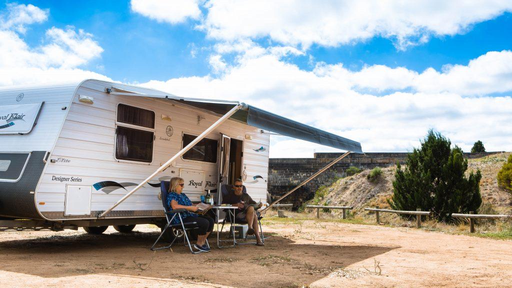 Camping at Yeldulknie Reservoir