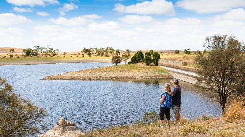 Looking over the Yeldulknie Reservoir