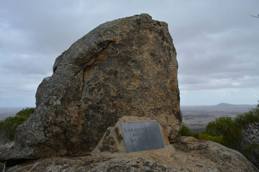 The summit of Carappee Hill, the highest hill on the Eyre Peninsula