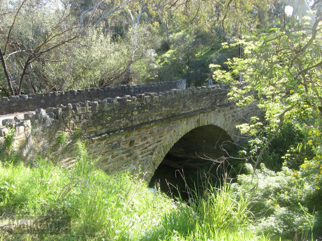 The 1866 built stone arch bridge on Coromandel Parade