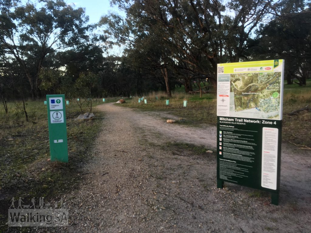 The Mitcham Trail Network Zone 4 is an collection of trails adjoining the Craigburn Farm Shared Trails (which itself is part of Sturt Gorge Recreation Park)