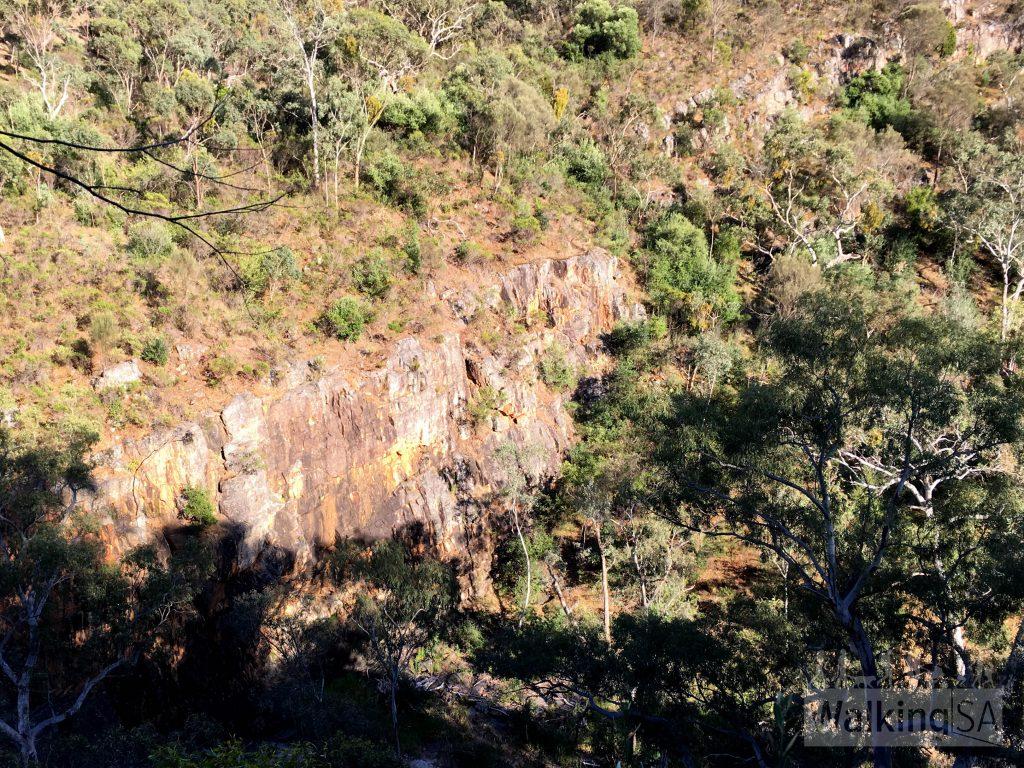 Views into Onkaparinga Gorge on the River Hike