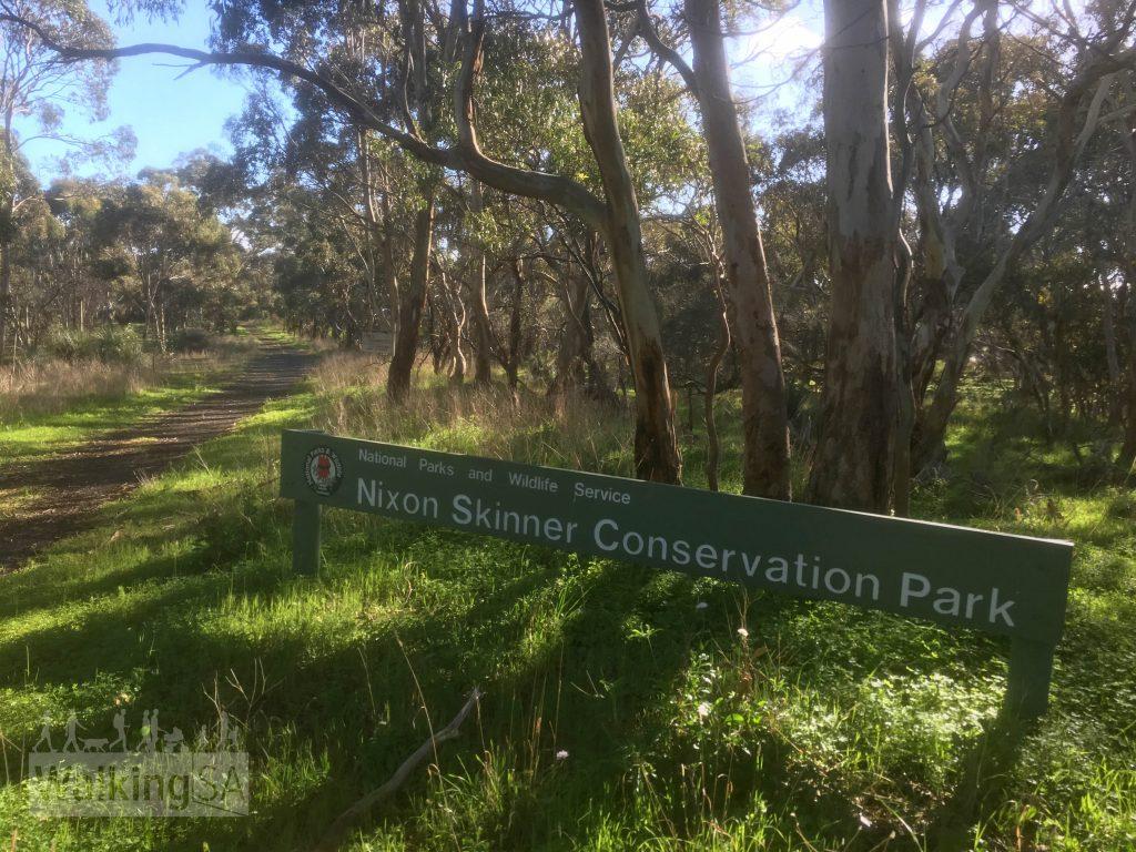 Entrance sign to Nixon-Skinner Conservation Park