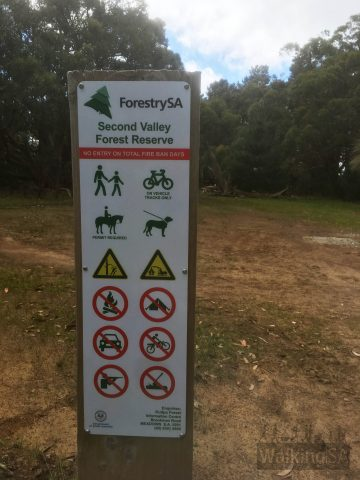 In Second Valley Forest, as with many Forestry SA areas, there is:- No entry on days of Total Fire Ban- Hiking, dog walking and mountain biking permitted- Horse riding permitted with permit- No fires, no camping, no motor bikes, no firearms