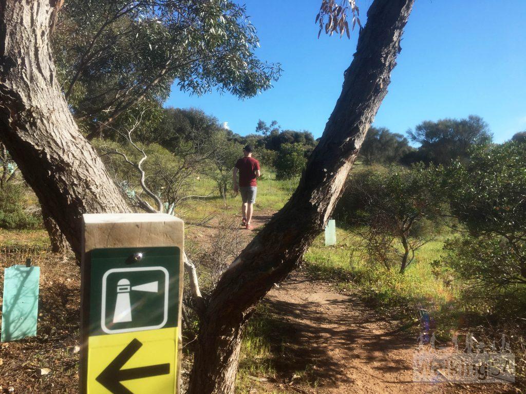 The Botanical Trail leads to the Marino Rocks Lighthouse