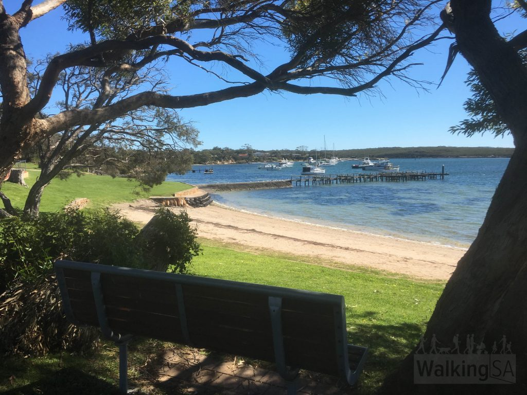 The Oyster Walk follows the foreshore at Coffin Bay