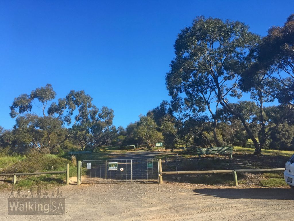 The carpark and trailhead for the Botanical Trail in Marino Conservation Park is at Gate 1, at the end of Nimboya Road, Marino