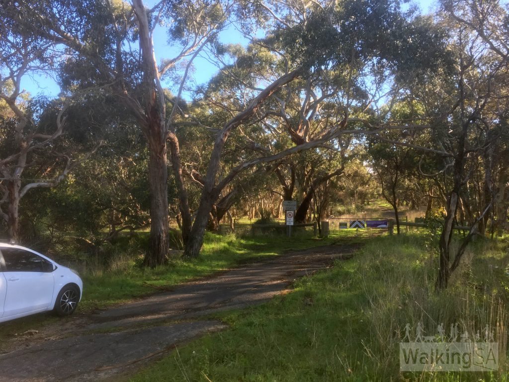 The entrance to Nixon-Skinner Conservation Park off Main South Road south of Myponga is easy to miss. It's 4km south of central Myponga