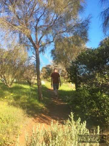 Walking on the Botanical Trail in Marino Conservation Park