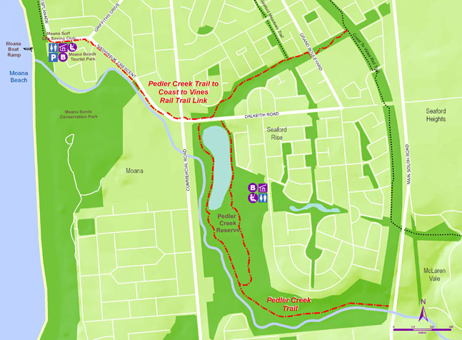 Pedler Creek Trails map