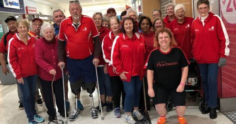 Glenn with his local Heart Foundation Walking group