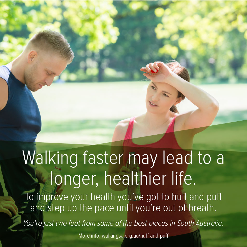 Walking faster may lead to a longer, healthier life