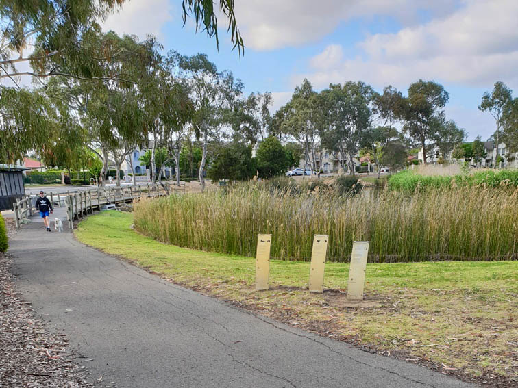 Walking through Roy Amer Reserve in Oakden