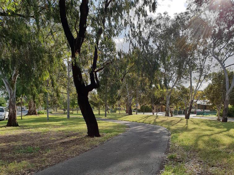 Walking trails in Flinders Road Reserve