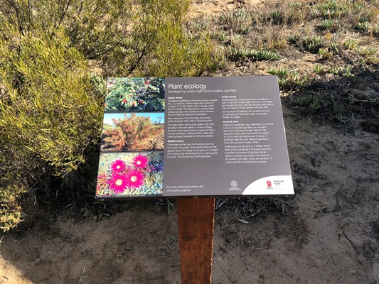 Plant ecology interpretive sign
