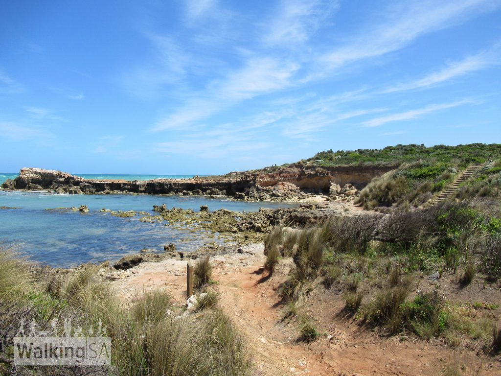 Hiking some of the more exposed coastline on the Cape Buffon Walk