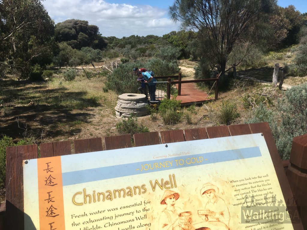 Fresh water was essential for the exhausting journey that that the Chinese took to reach the Goldfields in Victoria. Chinamans Well was one of several wells used to source water along the route.