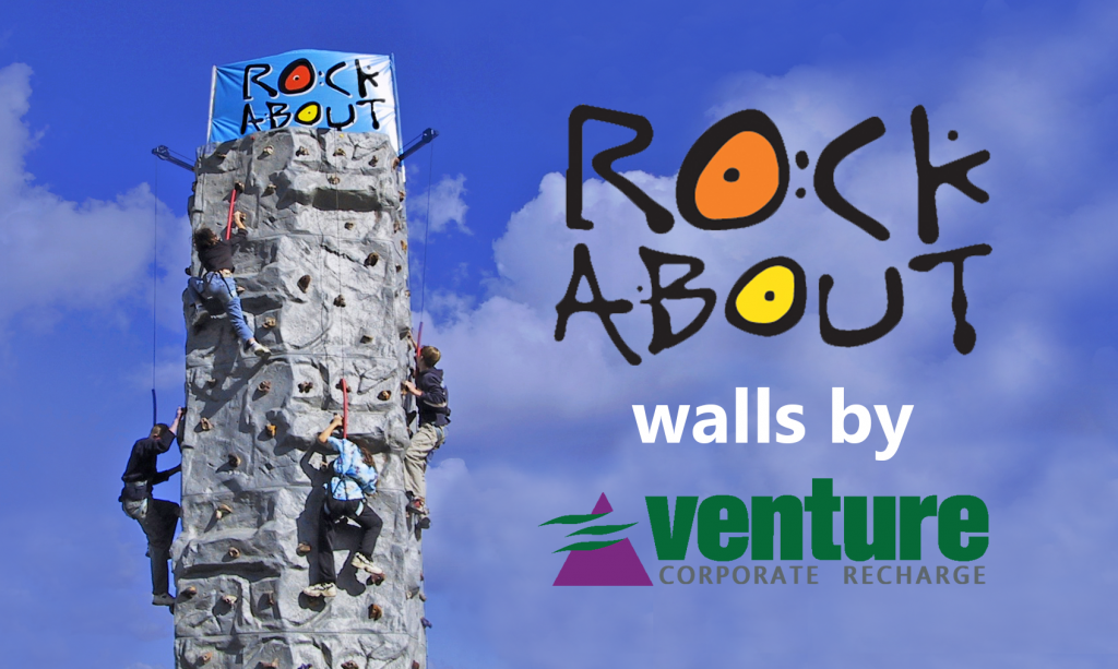 Have a go on the rock-climbing wall thanks to Rock About