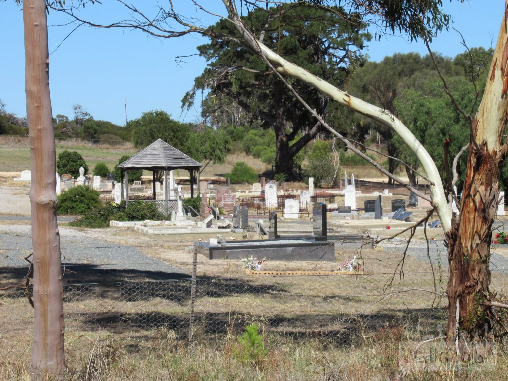 In the north Lions Walking Trail passes the Meningie Cemetery