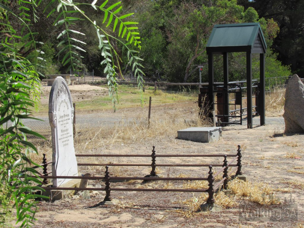 The Lions Walking Trail ends in the north at the Meningie Cemetery