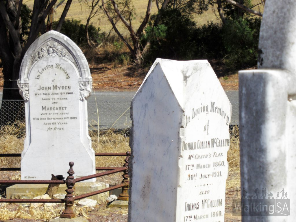 The earliest marked graves in the Meningie Cemetery date from 1869