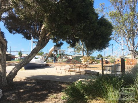 The playground beside the Pelican Path in Meningie