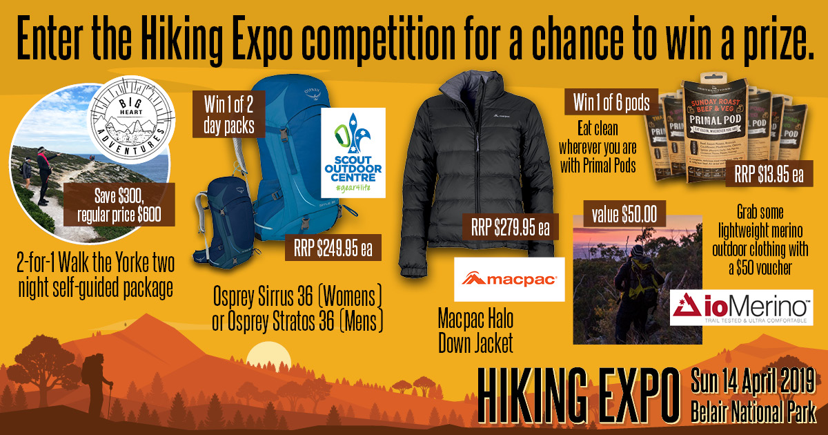 Enter the Hiking Expo competition for a chance to win a prize.