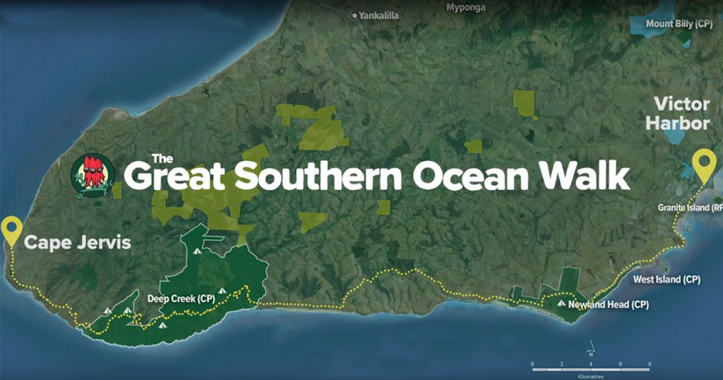Map of Great Southern Ocean Walk